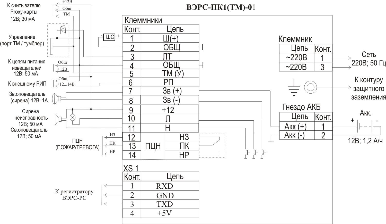 Пульсар-1-01н схема подключения