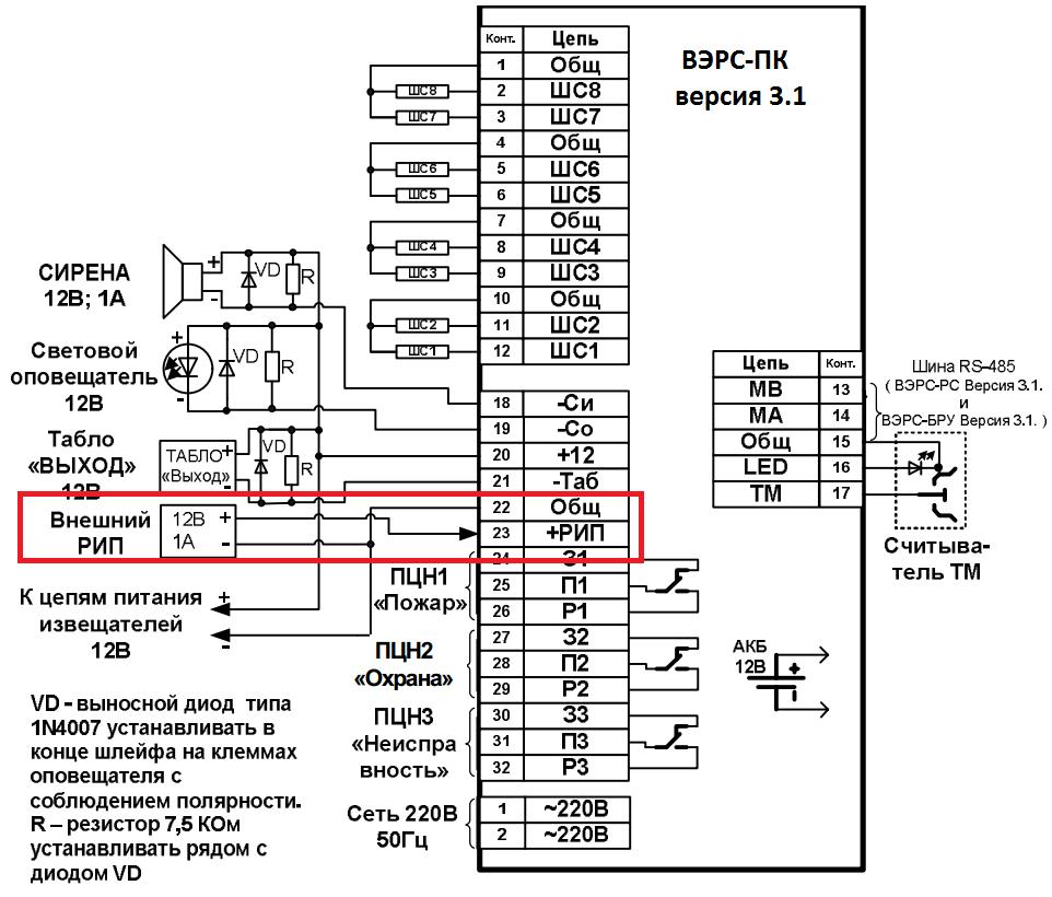 Вэрс пк 2 схема подключения фото 266